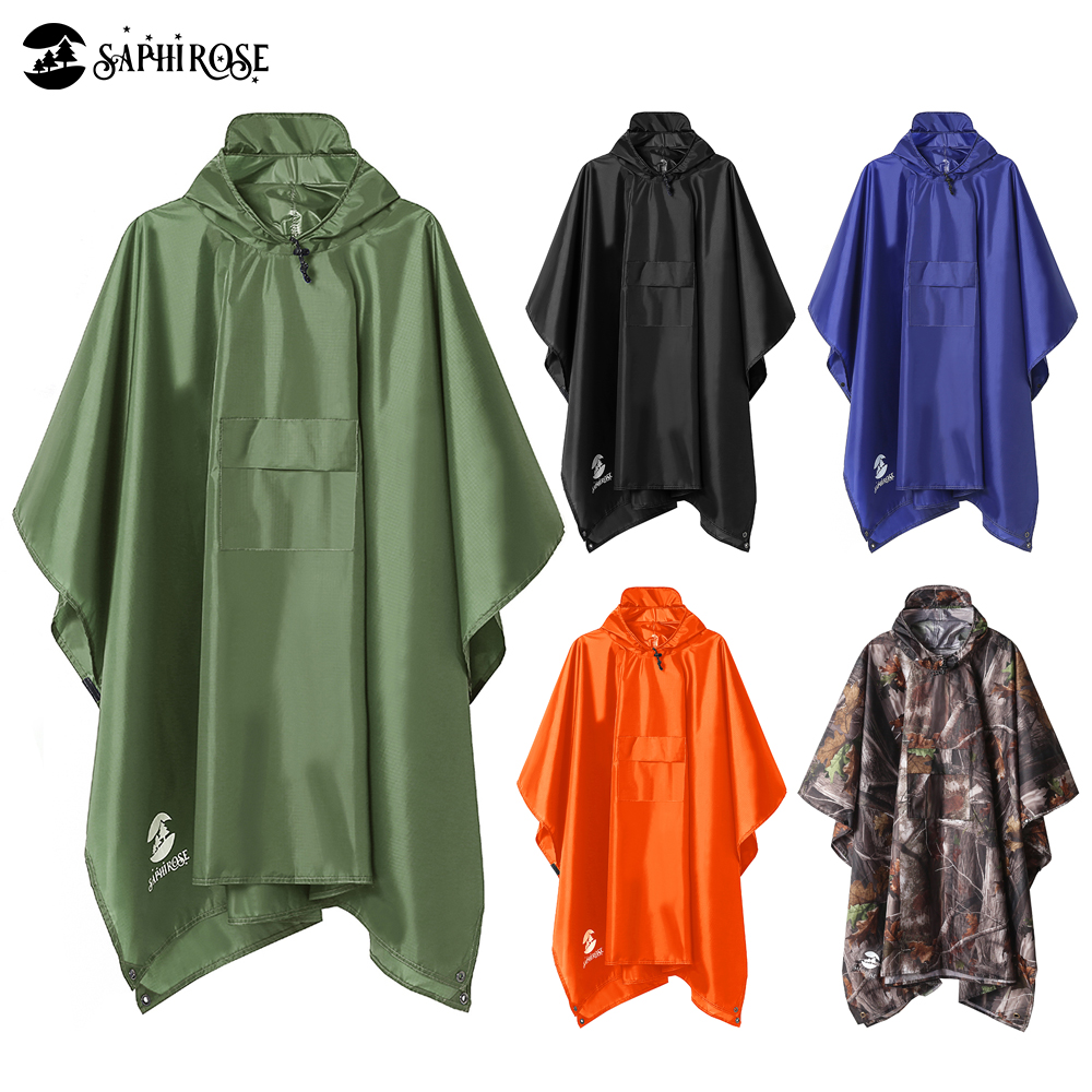 Hooded Rain Poncho Waterproof Raincoat Jacket for Men Women Adults|Raincoats|   - AliExpress