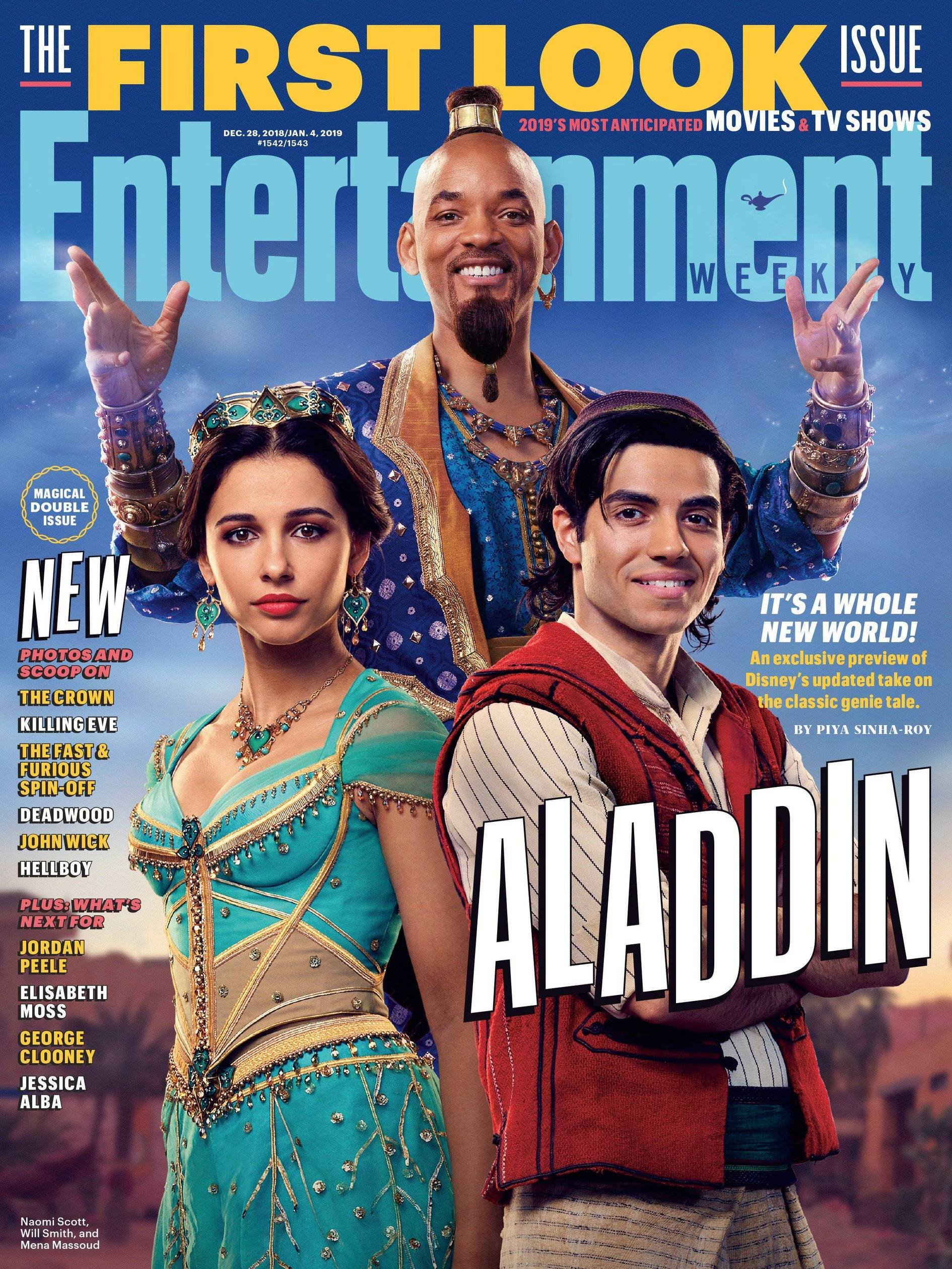 First official picture of the cast of Aladdin : movies
